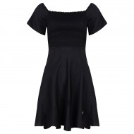 Delousion Dress Viola - Zwart