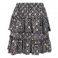 Delousion Skirt Stellan - White Dots Gold